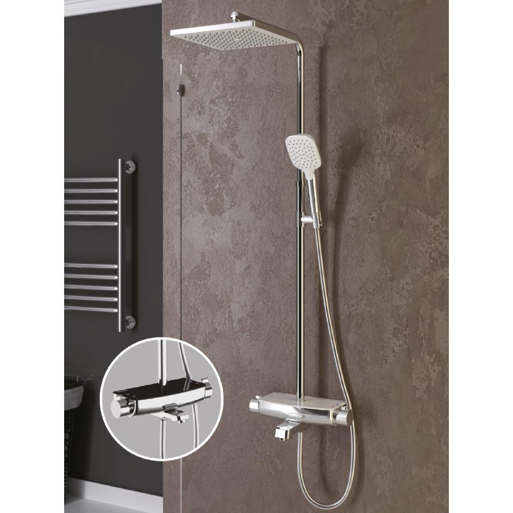 Mira Termostatik Beyaz Üç Yönlü Duş Kolonu DK3601C