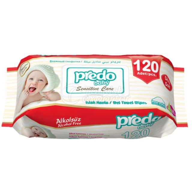 Wet Wipes Predo 120 Pieces- Red