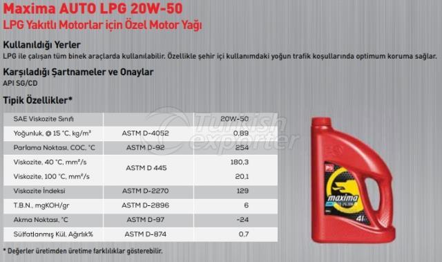 Maxima Auto Lpg 20W-50