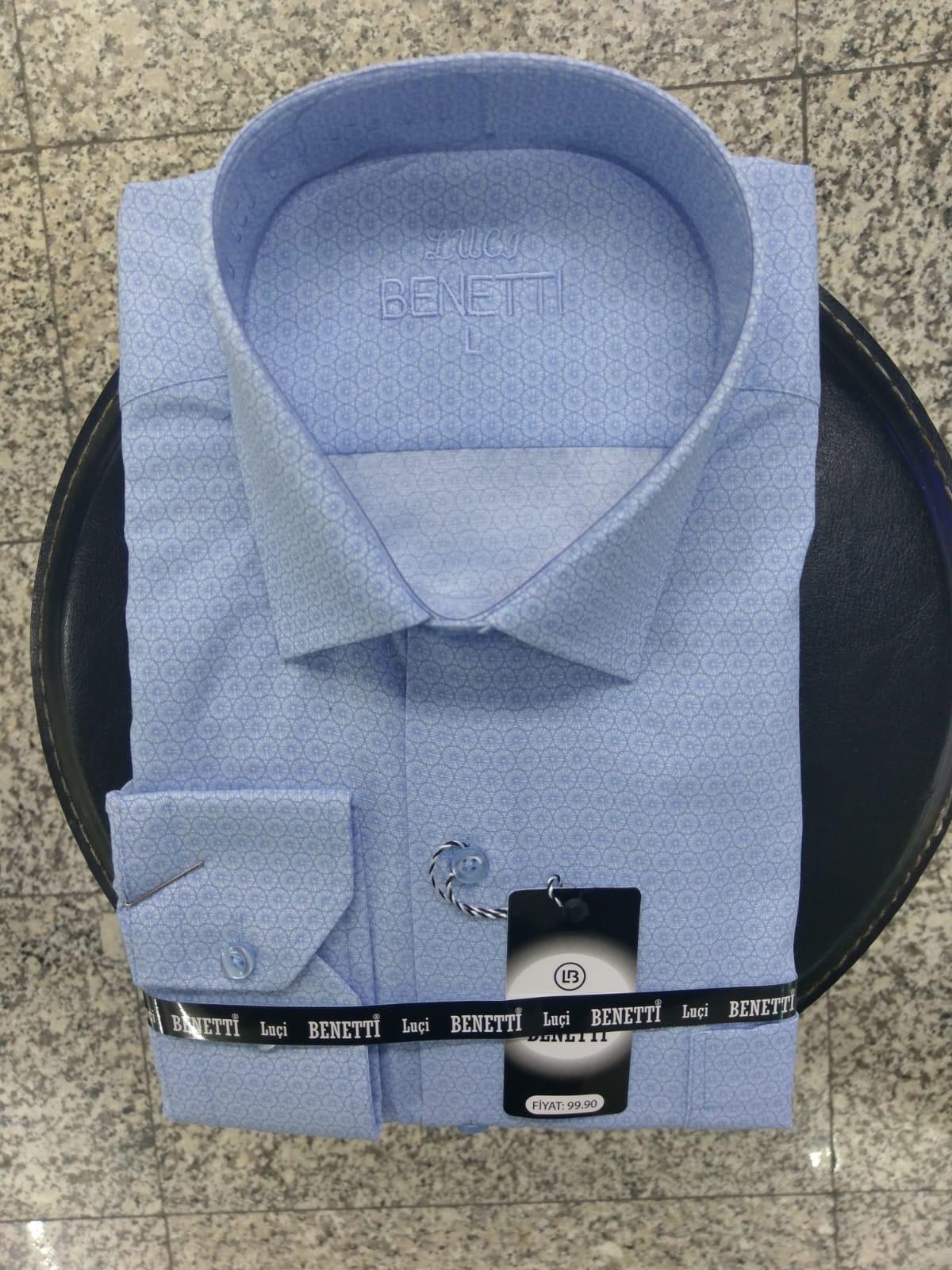 Men Classic shirts self-patterned