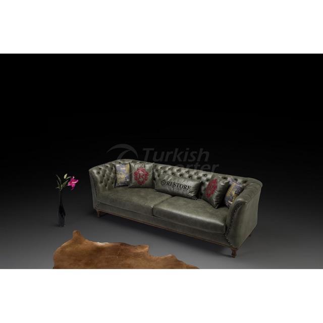 Conjunto de sofá verde