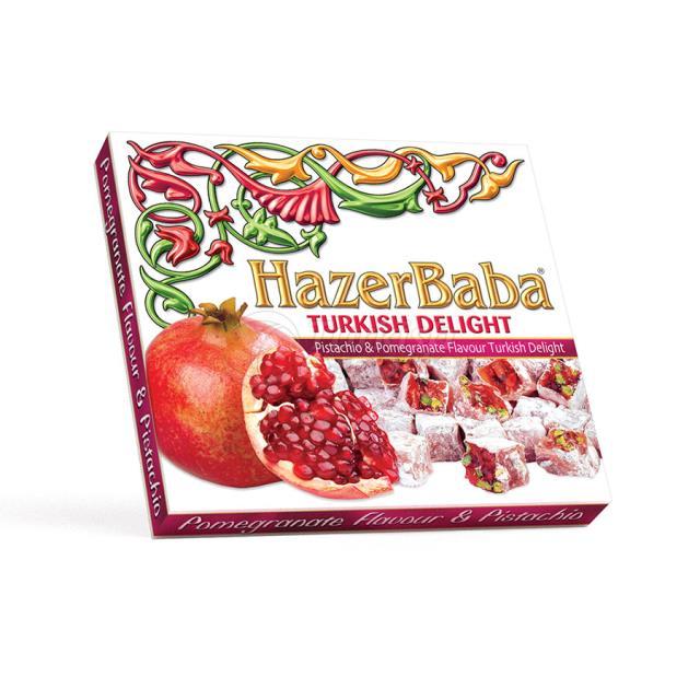Pistachio, Pomegranate Turkish Delight