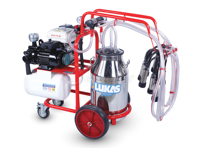 40.8 Double Milking Group Single Bucket With Electric and Gasoline Engine