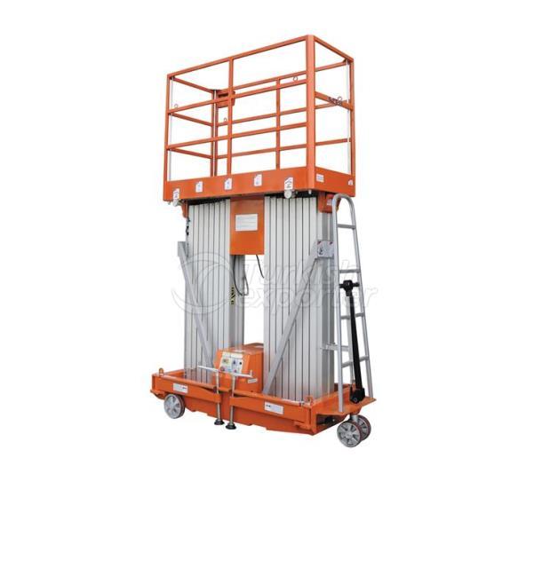 Plate-forme de travail à double mât en aluminium NL-DMAP 14