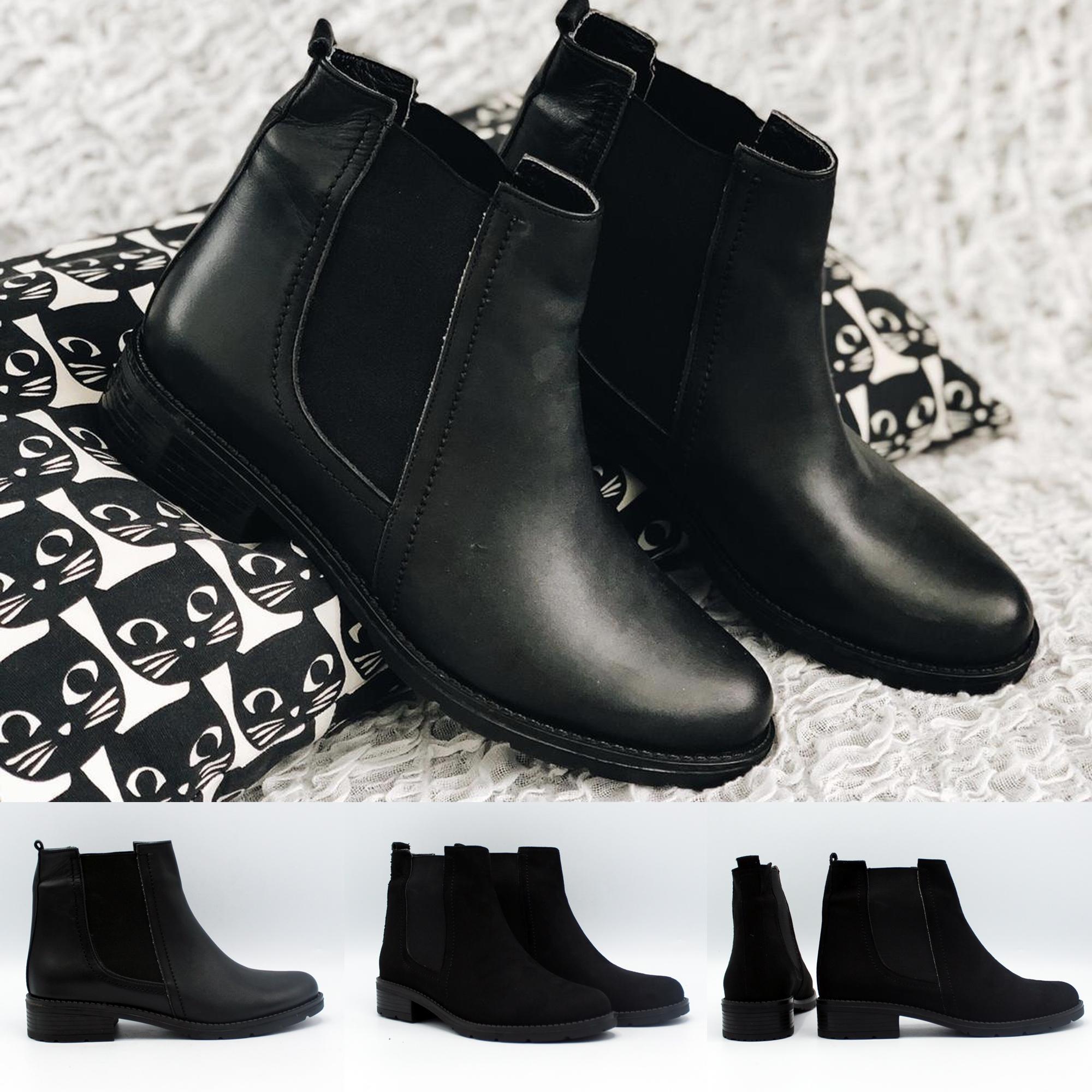 Low Heel Women Stylish Boots Trend Footwear