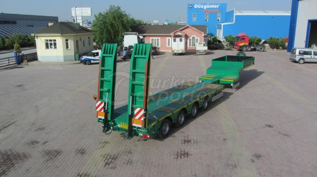 4 axel Lowbed Semi Trailer
