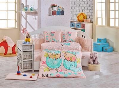 Lovely Salmon - Baby Bed Linen Set (8698499129344)