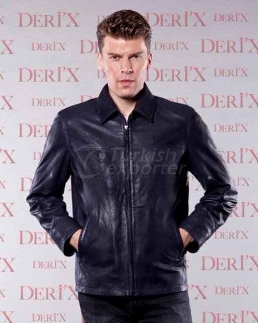 Leather Jackets CLINTOY E Dark Blue