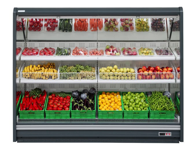 vertical vegetable showcase