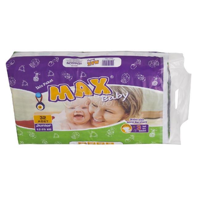 Couches bébé Junior 32 pcs