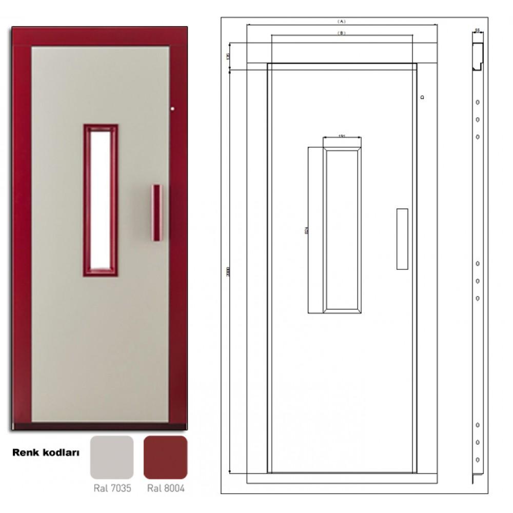 Semi Automatic Elevator Door DOORLIFE 70