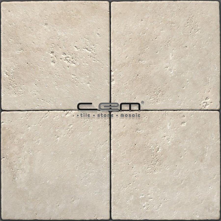 Light Travertine Tumbled Tile