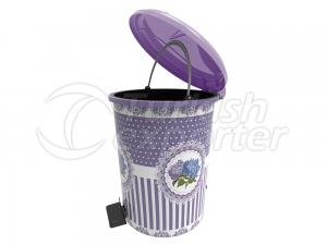Decorated Pedal Dustbin