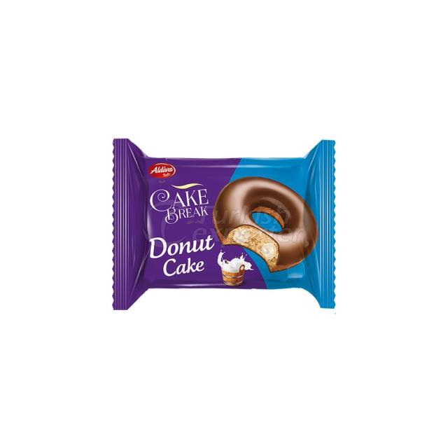 Cake Break Cocoa Coated Donut Cake With Milk Cream