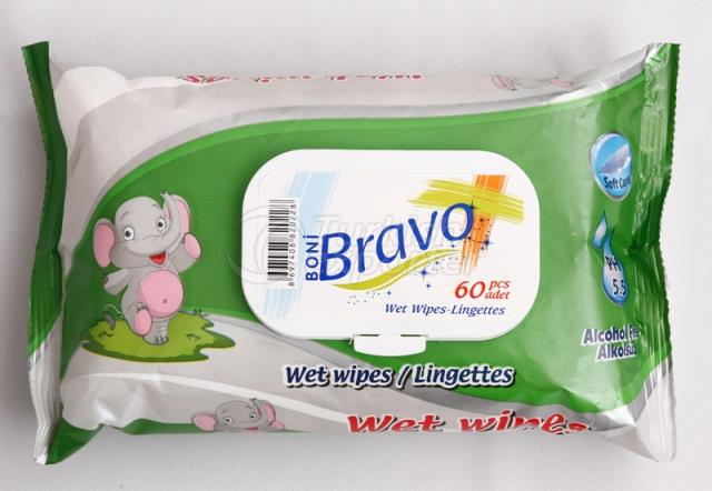 Bravo 60 Pcs Wet Wipes