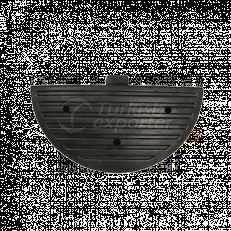 Cabezal de rampa de velocidad de goma- CR 9001