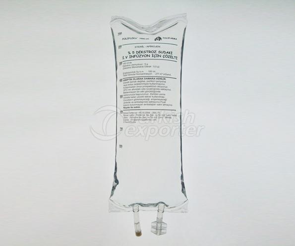 5 Dekstroz NaCl İ.V. Çöz. 1000 ml