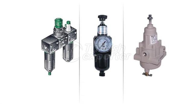 Pneumtic Air Preparation Units FRL and Regulators