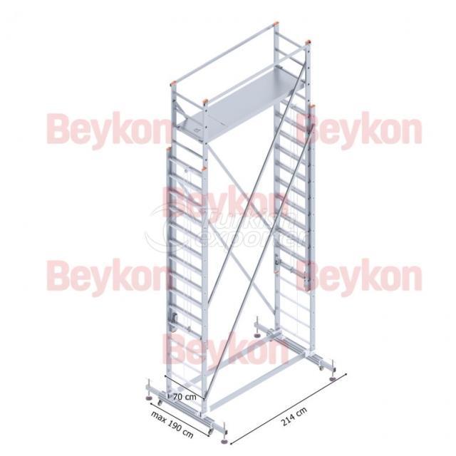 Andamio telescópico de aluminio 2x4m
