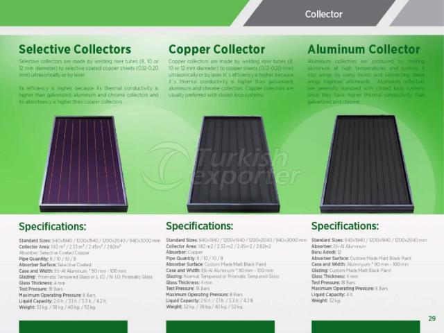 Collecteurs sélectifs en cuivre-aluminium
