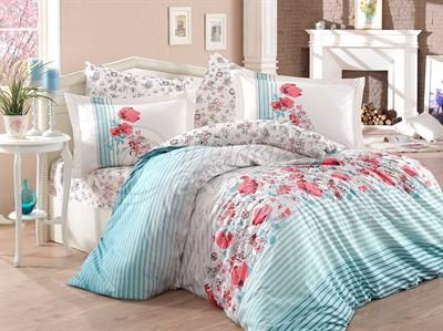 Fiesta Aqua - Poplin Single Bed Linen Set (8698499310407)