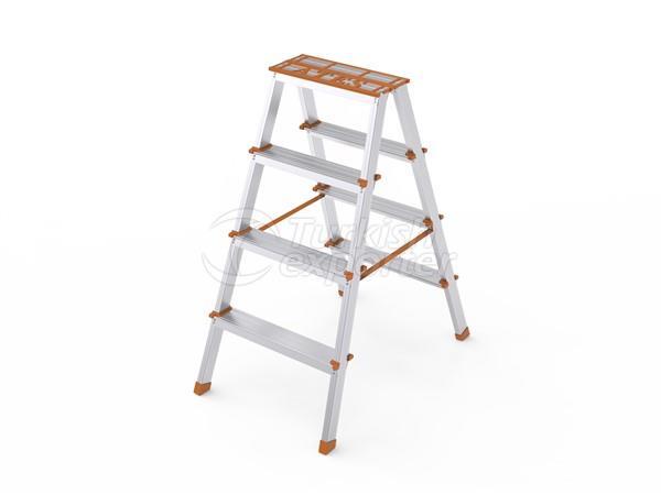 Double output aluminium ladder
