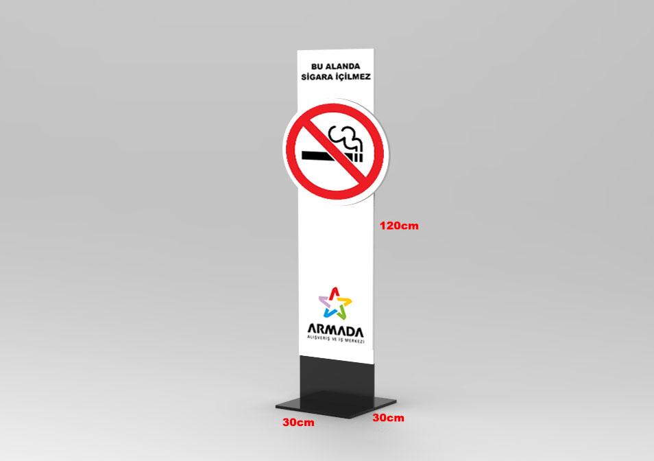 Placa de aviso de proibido fumar