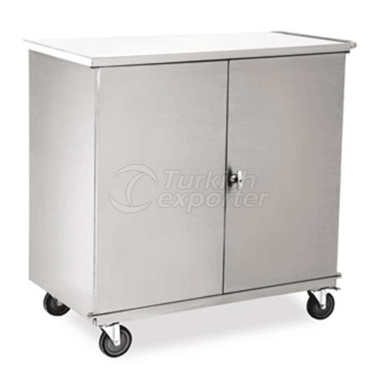 closed material carriying trolley