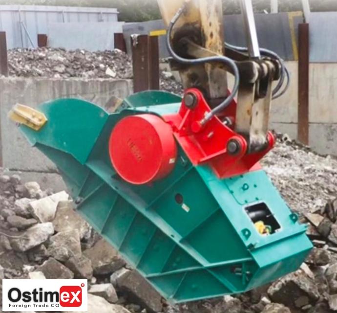 Excavator Mounted Bucket Crusher