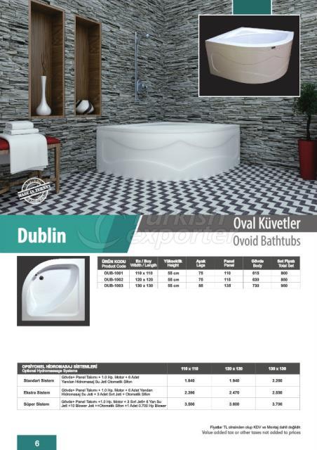 Овальная ванна Dublin