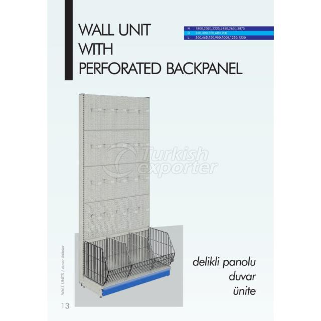 Wall Unit with Perforated Backpanel