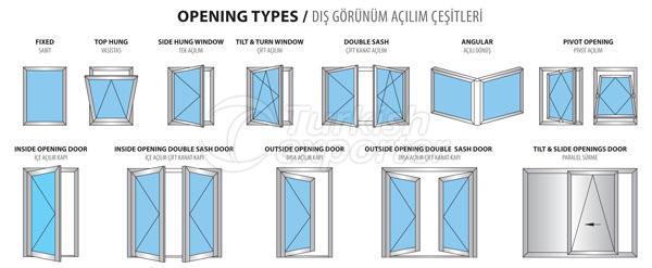 Puertas de aluminio 60W Windows
