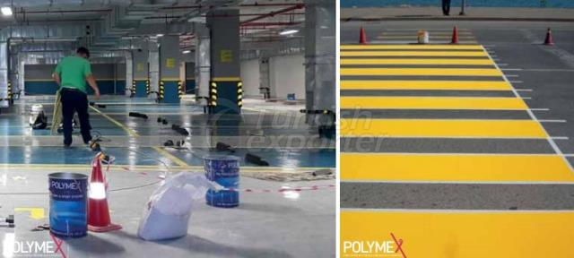PU Double Component UV Road Marking Paint