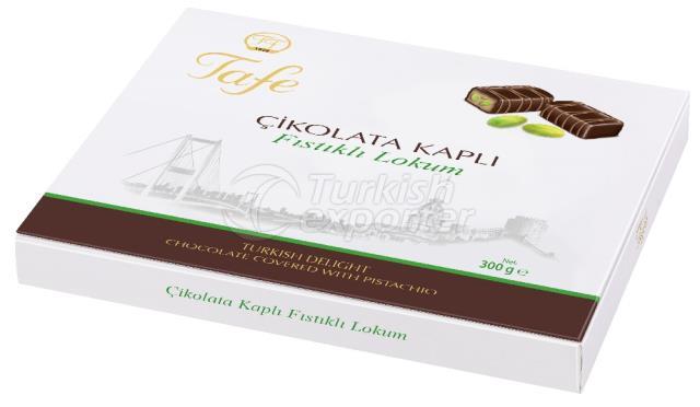 Pistache de chocolate com cobertura de prazer turco 803