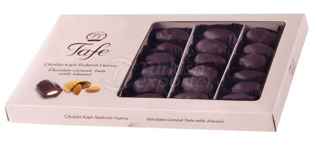 Datas Cobertas de Chocolate Almond 843