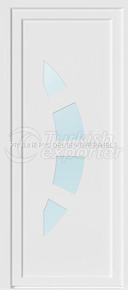Painéis planos de portas de PVC 10002