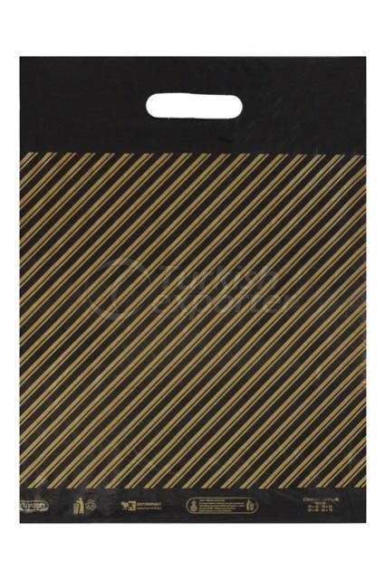 diagonal plastic bag