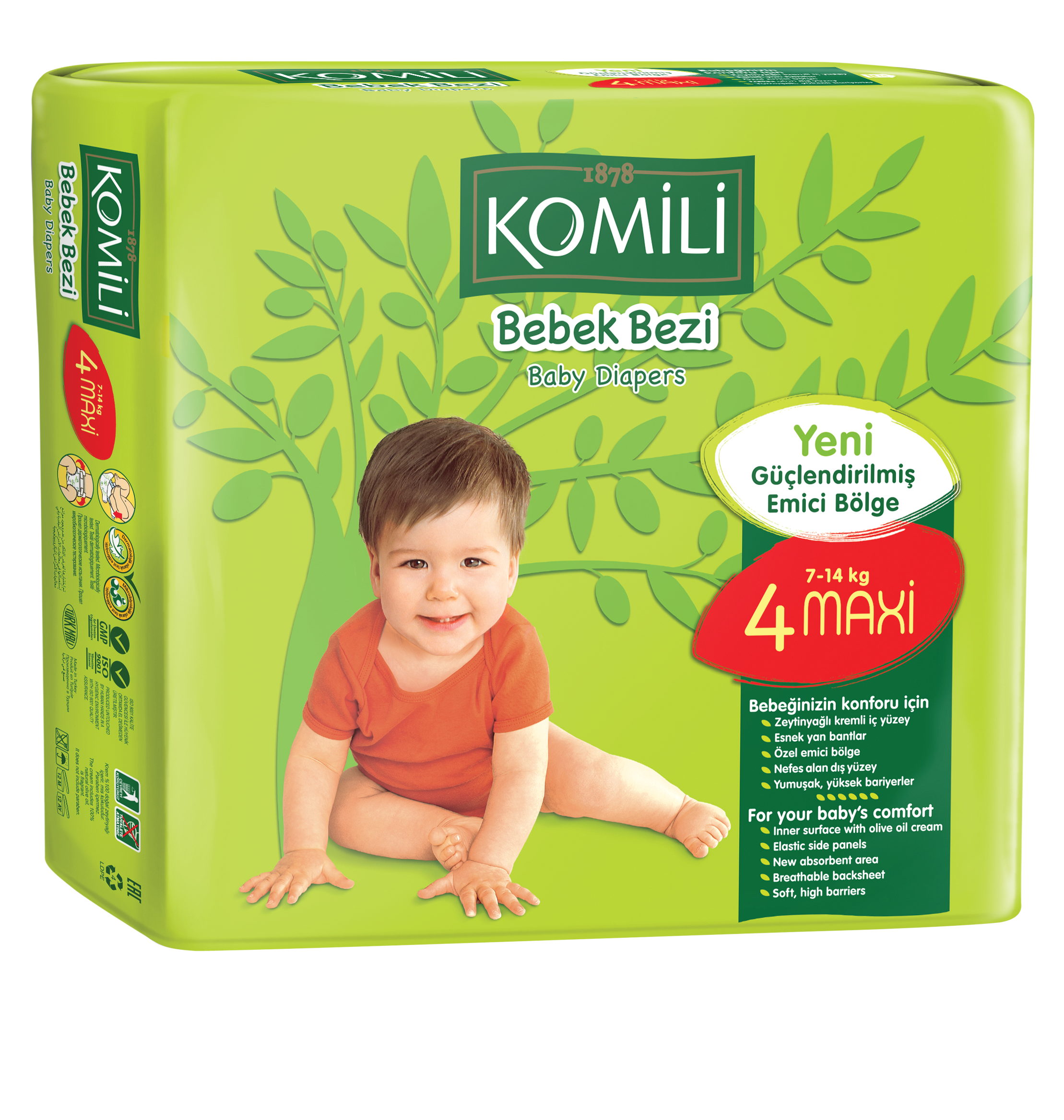 Komili Bebe Tape Type Baby Diaper