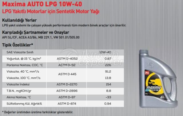 Maxima Auto Lpg 10W-40