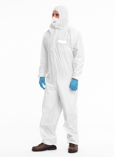 Hooded Coverall Type 5B/6B - White - Laminated - 55gr