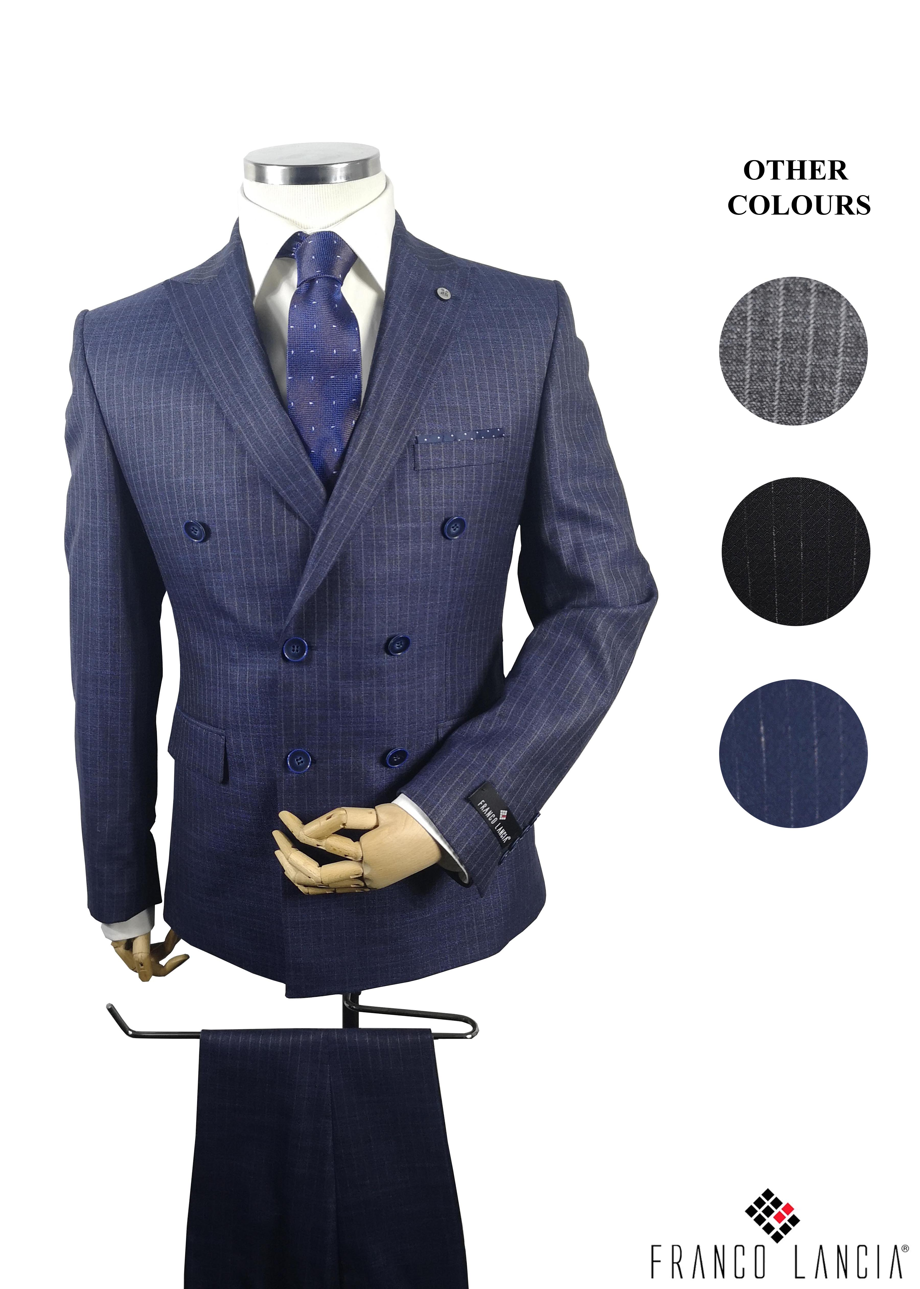 Double-Breasted Suit Model and Colors