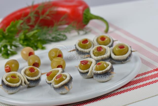 Filete de anchoa de oliva