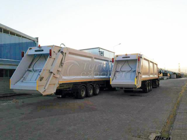 Camión de transferencia de basura semirremolque