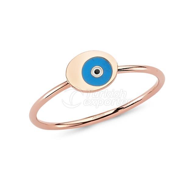 Evil Eye Beaded Gold Ring