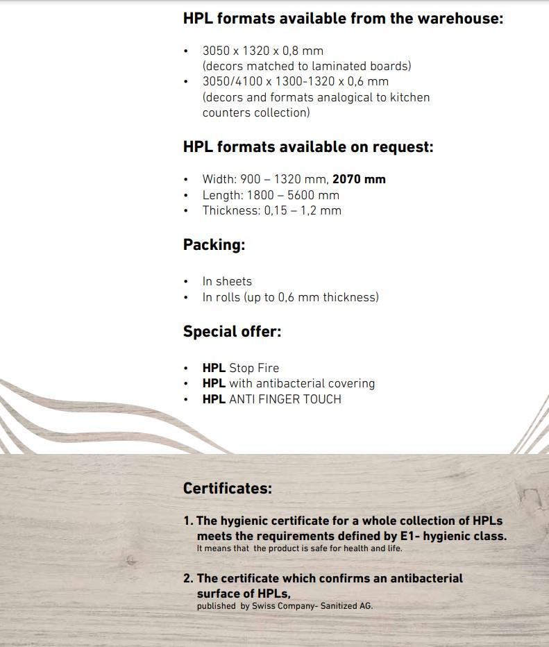 HPL / CPL Sheets