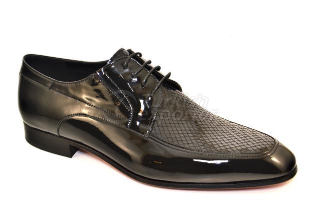 4744 Sapatos pretos de patente
