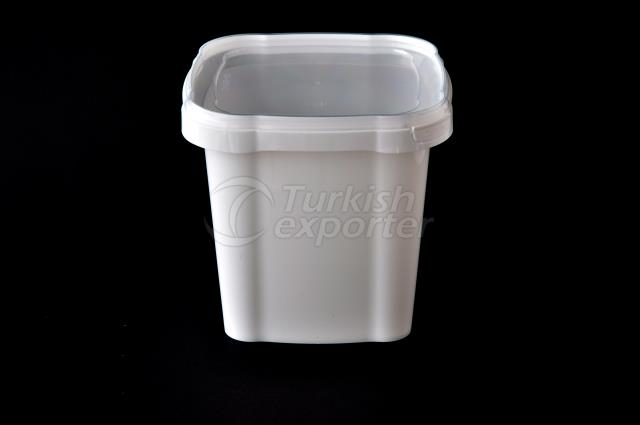 1500 ml Plastic Square Bucket