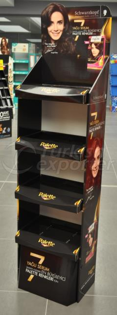 Temporary Display for hair care