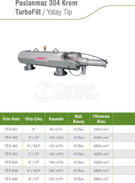 Stainless 304 Chrome TurboFilt Horizontal Type