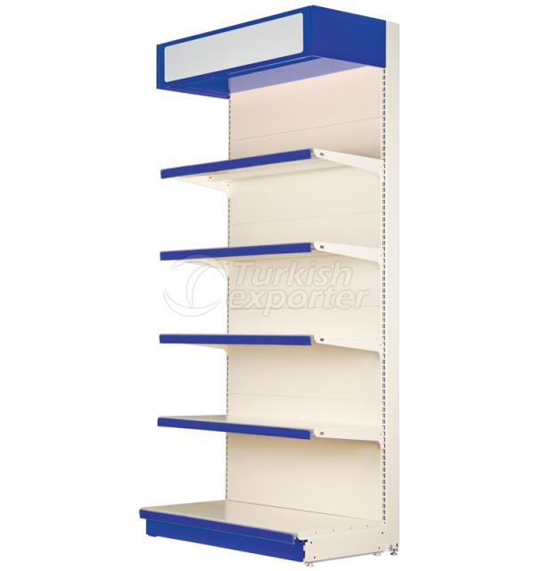 Wall Shelving Bay with Canopy